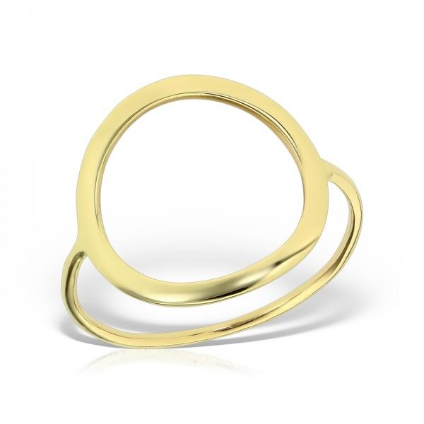 Inel aur cu cerc