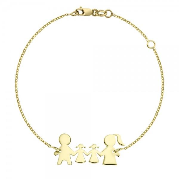 Bratara aur familie cu doi copii