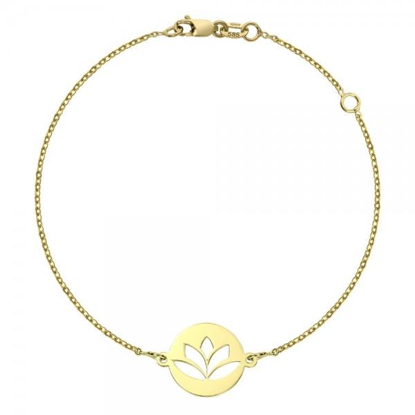 Bratara aur floare de lotus