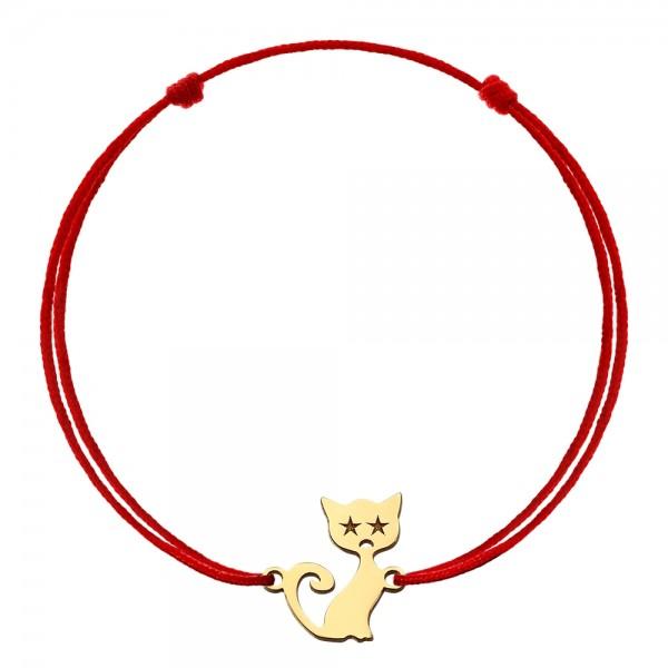 Bratara snur pisicuta aur