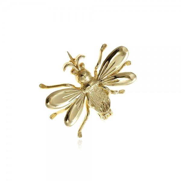 Brosa din aur albinuta