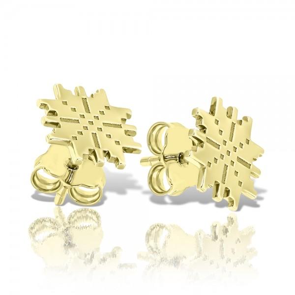 Cercei aur motiv traditional romanesc