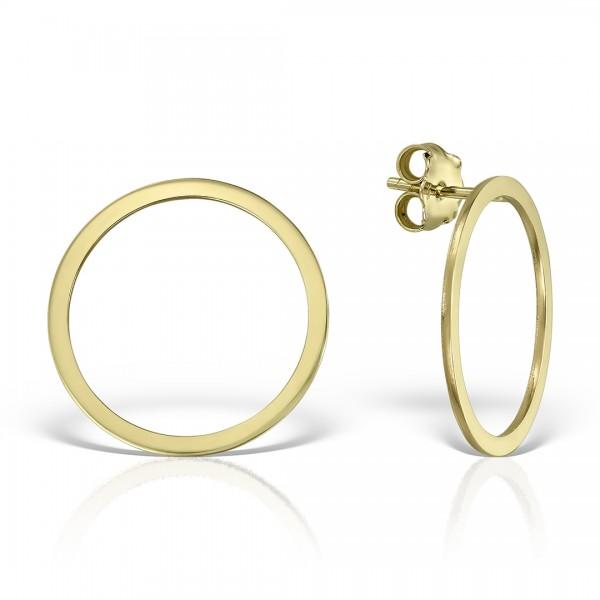 Cercei aur cu cercuri simple