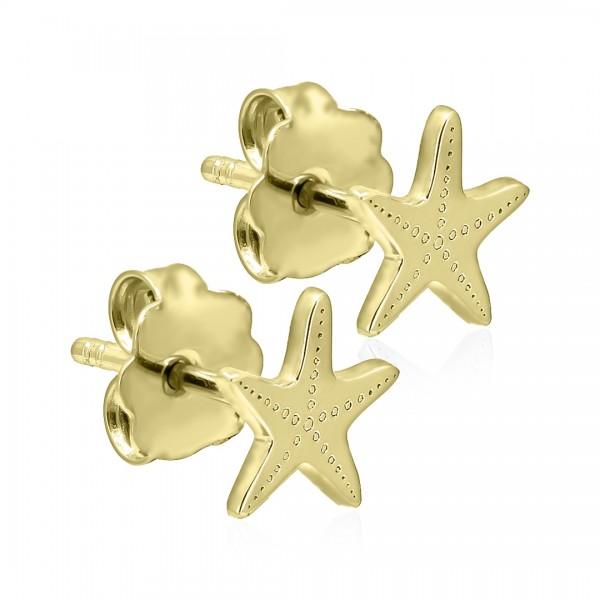 Cercei aur stea de mare
