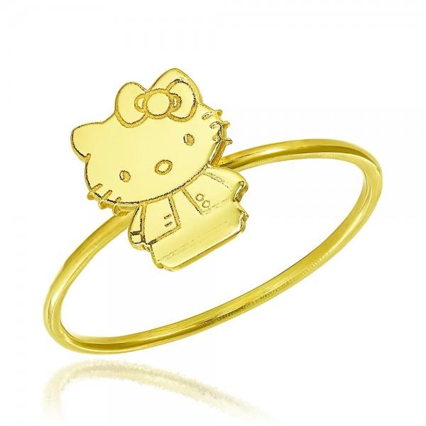Inel aur Hello Kitty