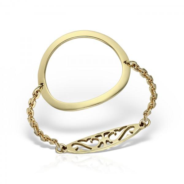 Inel aur cu lantisor si cerc