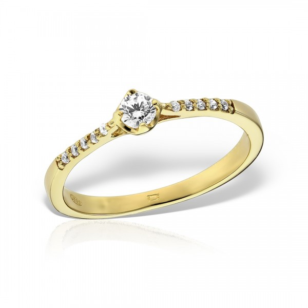 Inel de logodna aur cu pietre semipretioase