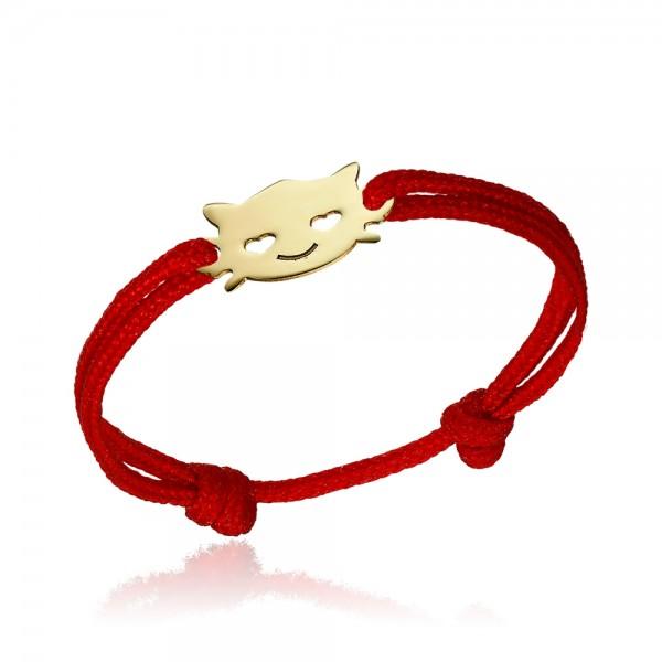 Inel snur pisicuta aur