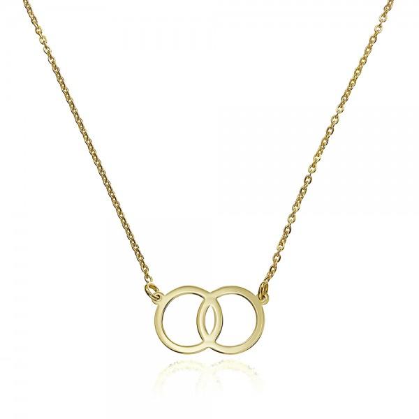 Colier aur doua cercuri