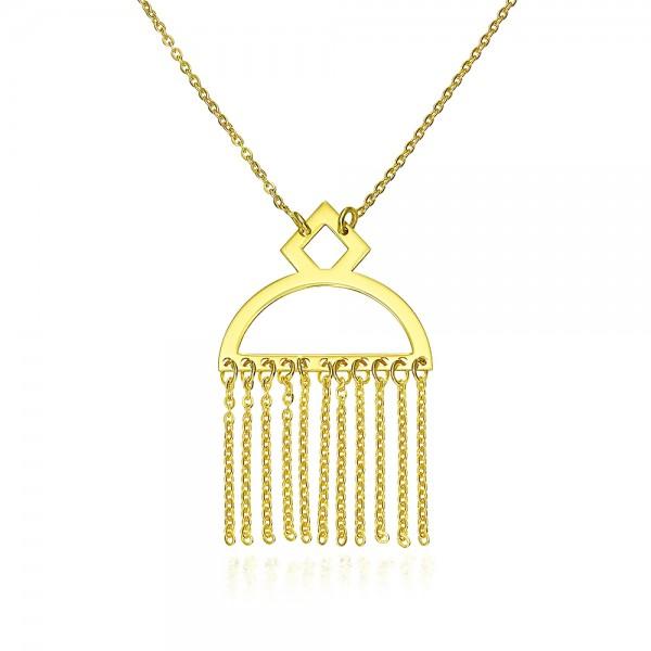 Colier aur cu pandantiv oriental