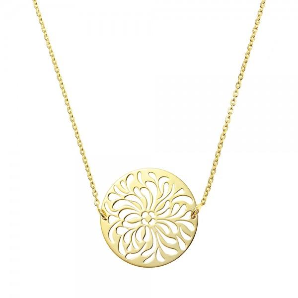 Colier aur Floare de Lotus