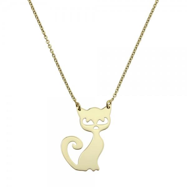 Colier aur pisica