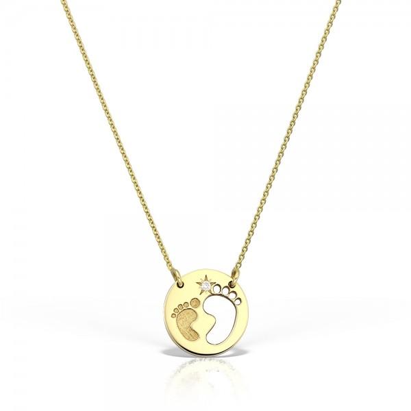 Colier aur talpite cu diamant