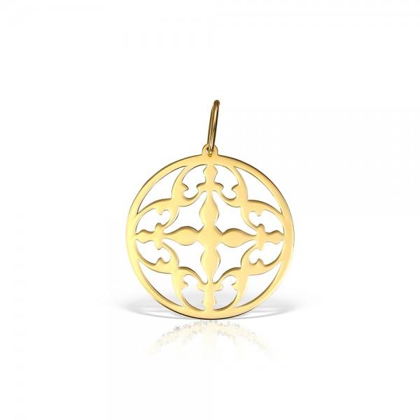 Pandantiv aur cruce stilizata