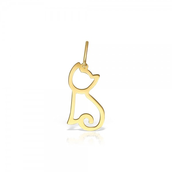 Pandantiv aur contur pisicuta