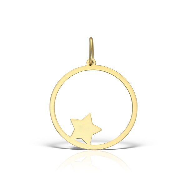 Pandantiv aur steluta in cerc
