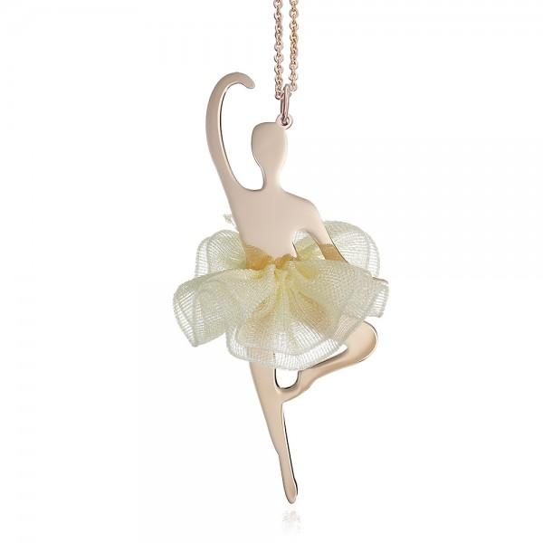 Pandantiv aur balerina cu tutu