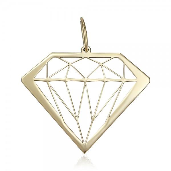 Pandantiv aur model diamant