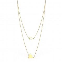 Colier aur triunghi