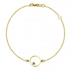 Bratara aur steluta in cerc cu diamant