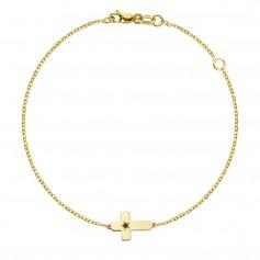 Bratara aur cruciulita cu diamant