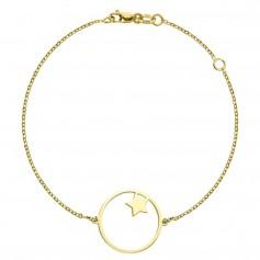 Bratara aur steluta in cerc