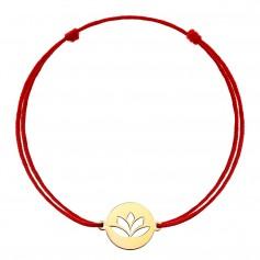 Bratara snur floare de lotus aur