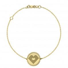 Bratara inima din aur Iubeste Romaneste