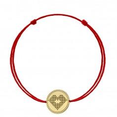 Bratara snur inima din aur Iubeste Romaneste