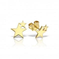 Cercei aur stelute