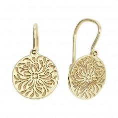 Cercei aur Floare de Lotus