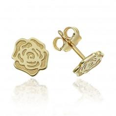Cercei aur trandafir