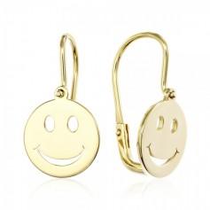 Cercei aur Smiley Face