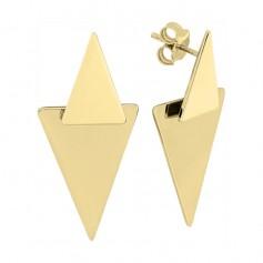 Cercei din aur triunghiuri