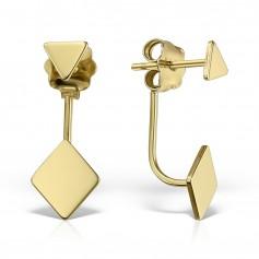 Cercei aur forme geometrice