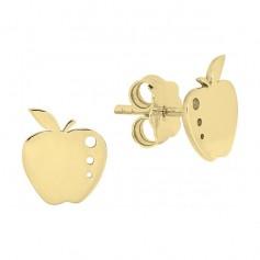 Cercei din aur mere