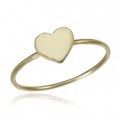 Inel aur cu inima
