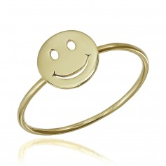 Inel Smiley Face aur