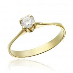 Inel de logodna aur cu piatra zirconia