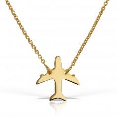 Colier aur cu pandantiv avion