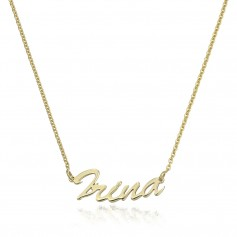 Colier aur nume IRINA