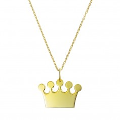 Colier aur cu pandantiv coronita