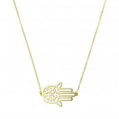 Colier aur cu pandantiv Hamsa
