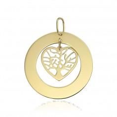 Pandantiv aur ban cu inima Copacul Vietii