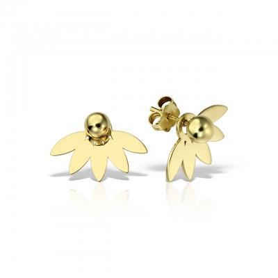 Cercei aur Floare