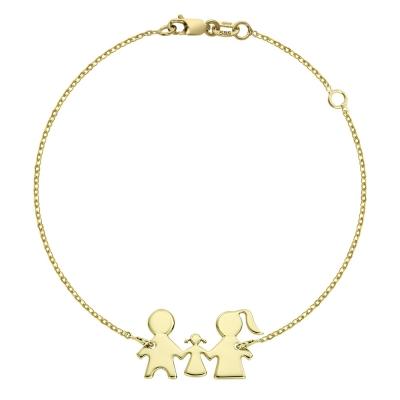 Bratara aur familie cu un copil