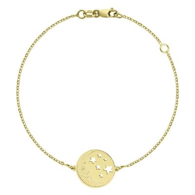 Brățara aur semiluna și stele