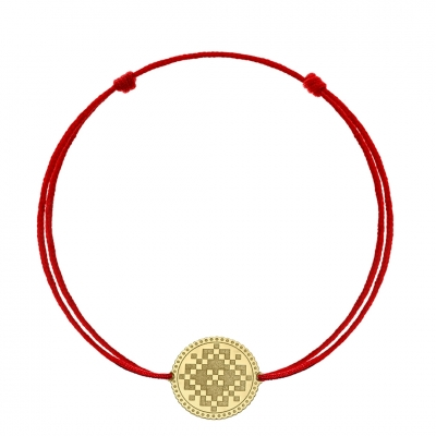 Bratara snur motiv traditional din aur