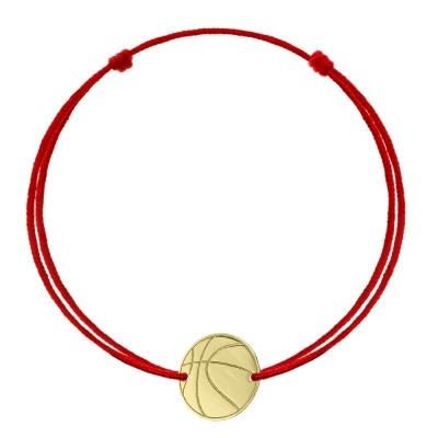 Bratara snur minge de baschet din aur