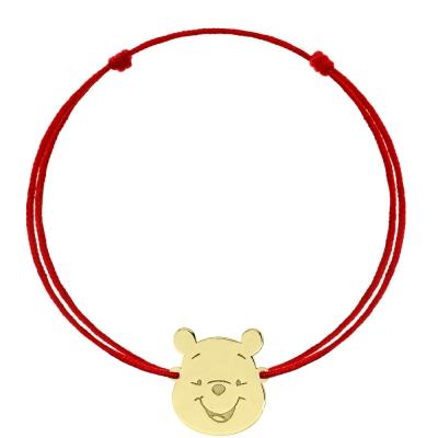 Bratara snur Winnie The Pooh din aur